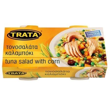 Trata Mexicana Tuna Salad with Corn / Τονοσαλάτα Μεξικάνα Με Καλαμπόκι 2x160g