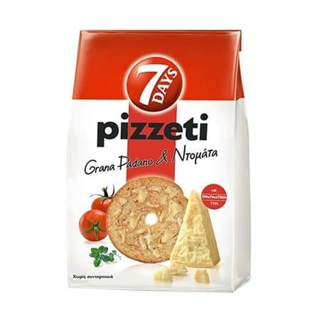 7days Pizzeti Grana Padano & Tomato / Παξιμαδάκια Τυρί Grana Padano & Ντομάτα 80g
