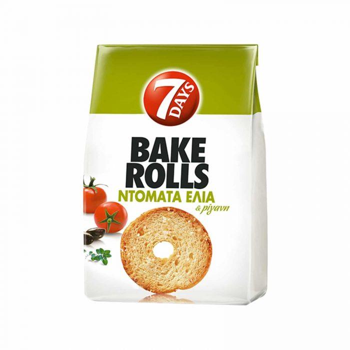 7Days Bake Rolls Tomato and Olive / Παξιμαδάκια μίνι Ντομάτα και Ελιά 160g