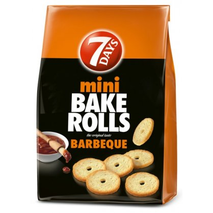 7Days Bake Rolls Barbeque / Παξιμαδάκια Μίνι Barbeque 160g