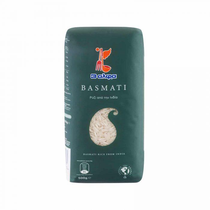 3A Basmati Rice / 3 Άλφα Ρύζι Μπασμάτι 500g
