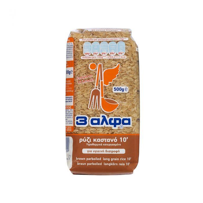 3A Brown Rice / 3Αλφα Καστανό Parboiled 500g