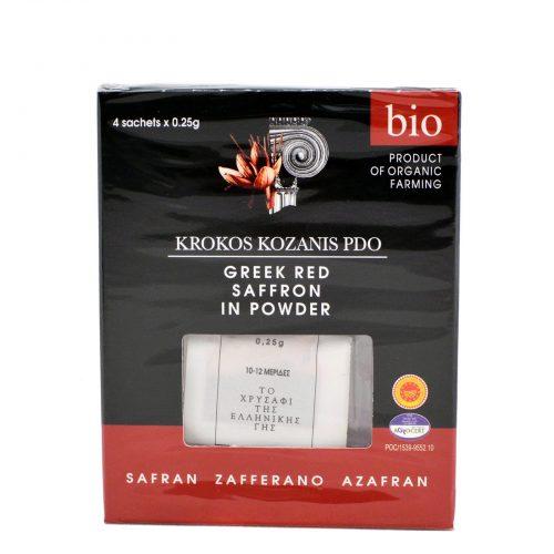 Greek Red Saffron Powder / Κρόκος Κοζάνης σε σκόνη 4x25g