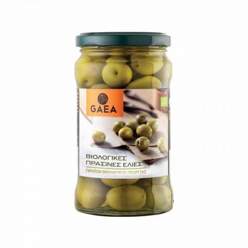Gaea Organic Green Whole Kalamata Olives / Βιολογικές Πράσινες Ελιές Καλαμών 300g