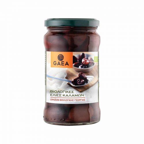 Gaea Organic Whole Kalamata Olives / Βιολογικές Ελιές Καλαμών 300g