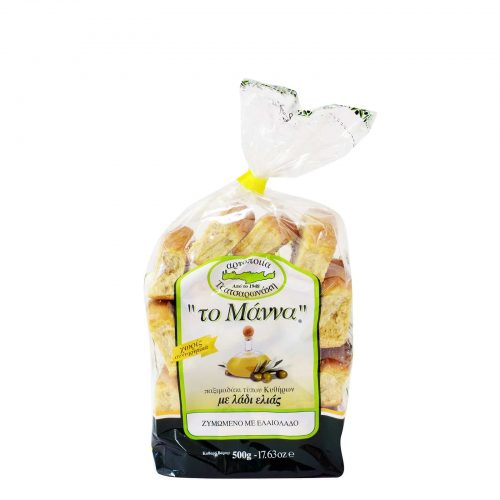 Manna Wheat Rusks with Olive Oil / Παξιμαδάκια Λαδιού 500g