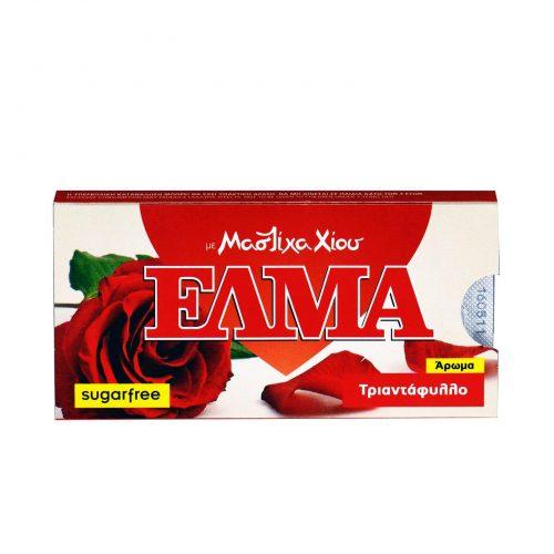 Elma Rose Sugar free Mastic Gum from Chios / Έλμα Τσίχλα Μαστίχα Χίου sugar free Τριαντάφυλλο 14g