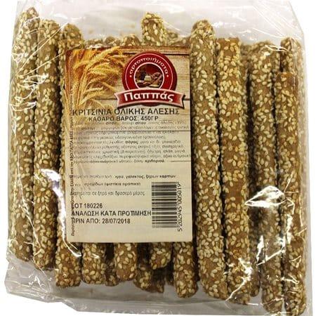 Pappas Breadsticks with Sesame Whole grain / Παππάς Κριτσίνια Ολικής Άλεσης 450gr