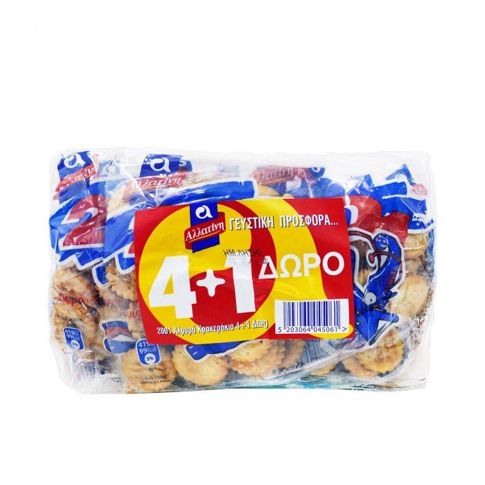 Allatini 2001 Crackers / Αλλατίνη Κράκερς αλμυρά 40g (4+1)