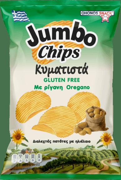 Jumbo Chips Wavy with Oregano / Πατατάκια Κυματιστά με Ρίγανη 130g