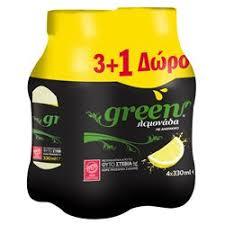 Green Lemonade sugar-free / Λεμονάδα 330ml x 3+1free