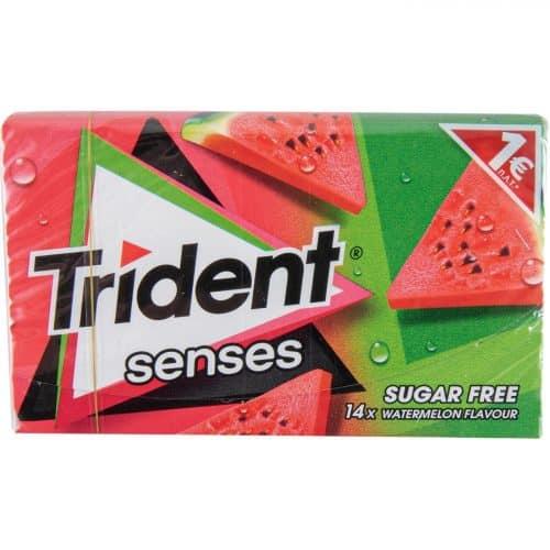 Trident Gums Watermelon / Τσίχλες Senses Καρπούζι 27g