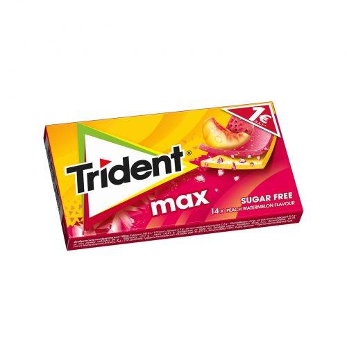 Trident Max Chewing Gums, Peach & Watermelon Flavour / Τσίχλες με Γεύση Ροδάκινο & Καρπούζι 27g