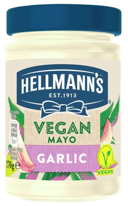 Hellman's Vegan Mayonnaise with Garlic / Μαγιονέζα με Σκόρδο 270g