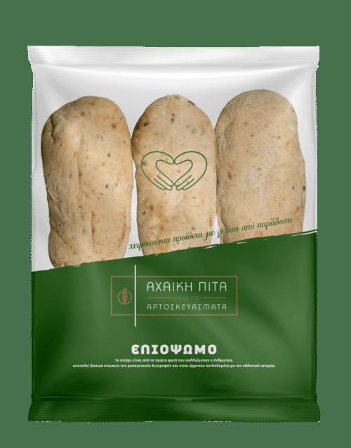 Achaiki Pita Handmade Olive Bread / Ελιόψωμο 6pcs