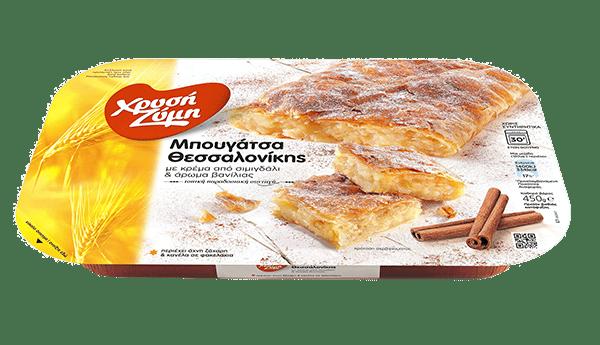 Chrysi Zymi Traditional Thessaloniki bougatsa cream pie / Χρυσή Ζύμη Μπουγάτσα Θεσσαλονίκης Κρέμα 450g