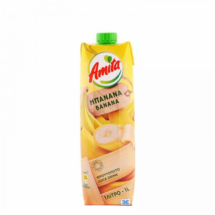 Amita Juice Banana / Φρουτοποτό Μπανάνα 1L