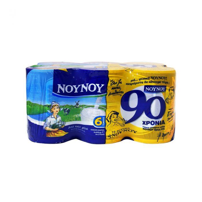 Gala Nounou NoyNoy Evaporated Milk / Γάλα Εβαπορέ 6x400g