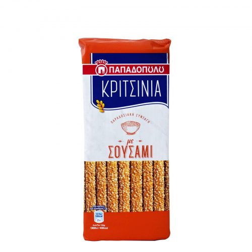 Papadopoulou Kritsinia Breadsticks with Sesame / Κριτσίνια Σουσάμι 130g