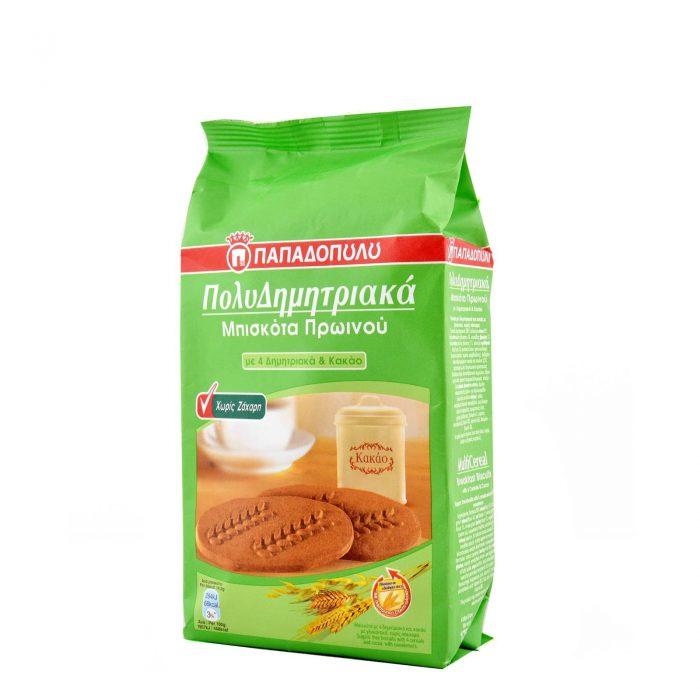 Μπισκότα πολυδημητριακά κακάο χωρίς ζάχαρη 175g