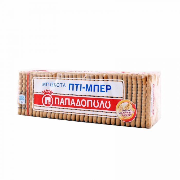 Papadopoulou Petit-Beurre Biscuits / Μπισκότα Πτι Μπερ 225g