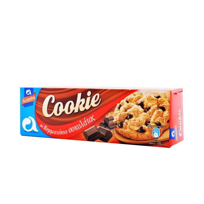 Allatini Cookie Chocolate Chip / Αλλατίνη Cookie Chocolate Μπισκότα 175g