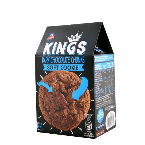 Allatini Soft Kings Dark Chocolate / Μπισκότα Cookies με μαύρη Σοκολάτα 180g