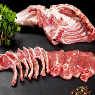 Kid Goat Trimmed (chops, leg, shoulder) / Κατσίκι (παϊδάκια, μπούτι, σπάλα ισομοιρασμένα) 2,5kg