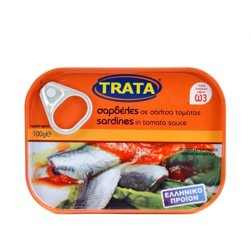 Trata Sardines in tomato sauce / Σαρδέλες σε σάλτσα ντομάτας 100g